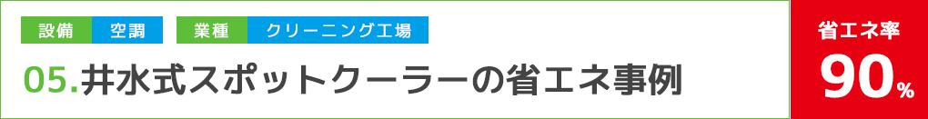 井水式スポットクーラーの省エネ事例