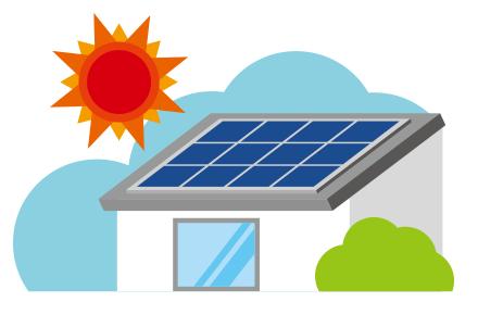 太陽光発電設置のイメージイラスト